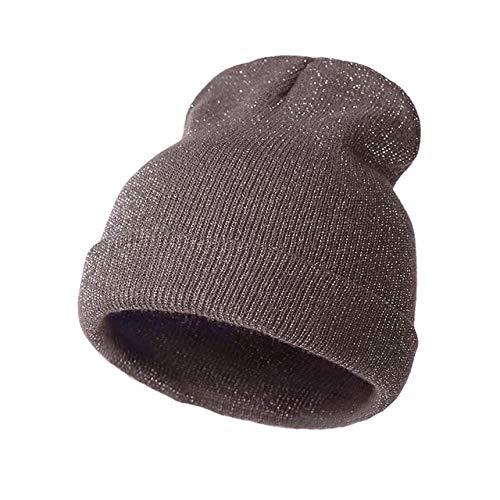 Mdder 2019 Frühling glänzend niedlich Winter Herbst Hut Mütze Hut weiblich weich Strickmütze Hut weiblich Mode Hut Mütze - Kaffee