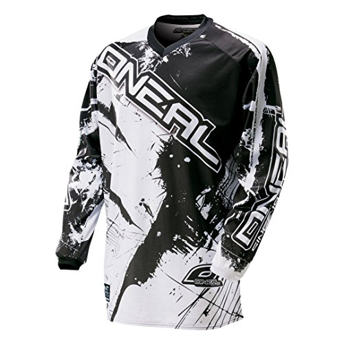 O'NEAL Oneal Element Shocker MX-Jersey, Farbe Schwarz/Weiss, Größe L