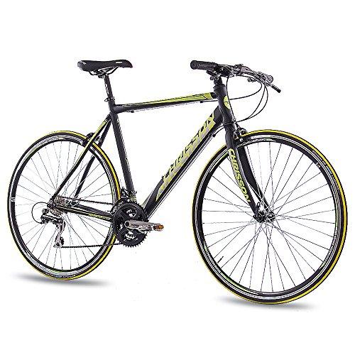 CHRISSON 28 Zoll Rennrad Fitnessrad AIRWICK 2015 mit 24G ACERA schwarz, Rahmengröße:59 cm