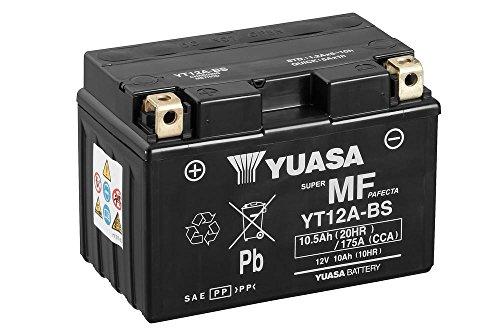 Batterie YUASA YT12A-BS, 12V/9,5AH (Maße: 150x87x105) für Suzuki SFV650 Gladius Baujahr 2012