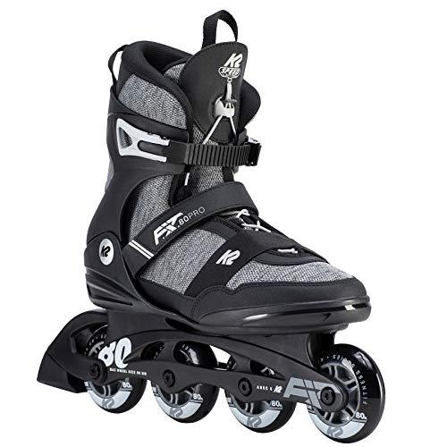 K2 Herren Inline Skates F.I.T. 80 PRO - Schwarz-Grau - EU: 42.5 (US: 9.5 - UK: 8.5) - 30D0771.1.1.095