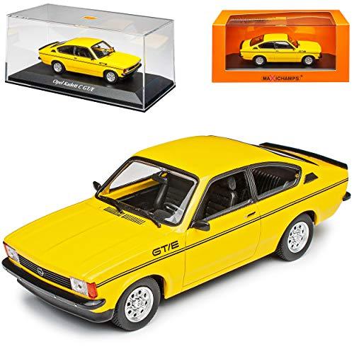 MAXICHAMPS Opel Kadett C GT/E 3 Türer Coupe Gelb 1973-1979 1/43 Minichamps Modell Auto mit individiuellem Wunschkennzeichen