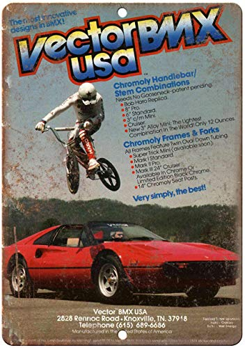 Decorative Vintage Retro Metal Sign Vector BMX, Racing, Rad Rmetal Sign