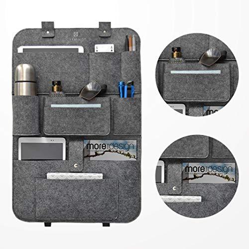 IXXMIND auto organizer, stabiler filz autositzschoner rückenlehnenschutz auto kinder, rücksitztasche, hängeregal, autositz, wohnmobil zubehör, Aufbewahrungstasche, autoorganizer, car organizer,