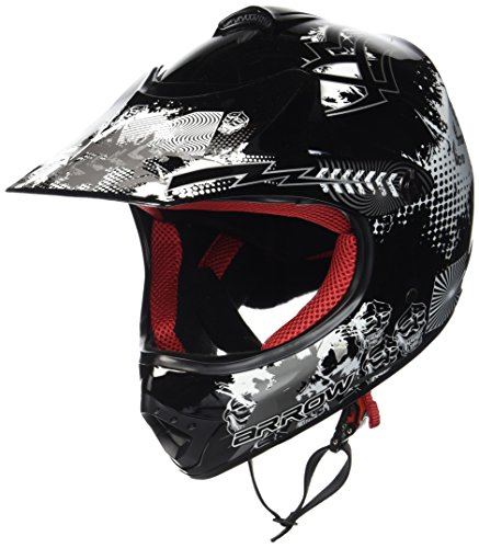 "ARMORHELMETS® AKC-49 ""Black"" · Kinder-Cross-Helm · Motorrad-Helm MX Cross-Helm MTB BMX Cross-Bike Downhill Off-Road Enduro-Helm Moto-Cross Sport Pocket-Bike · DOT Schnellverschluss Tasche S (53-54cm)"