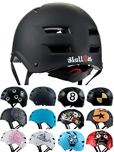 Skullcap® BMX Helm - Skaterhelm - Fahrradhelm - Herren Damen Jungs & Kinderhelm, schwarz, Gr. M (55 – 58 cm), Dark World
