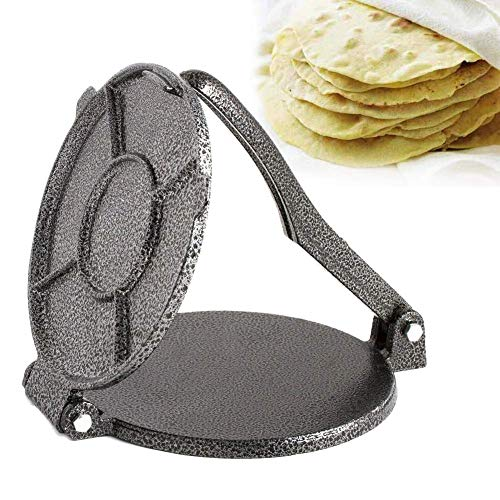 Tortilla-Maker, 20,3 cm, Aluminium, Tortilla-Presse, Mehl, Tortilla-Presse, Teig, Tortilla-Maschine, Mehl, Mais, Tortilla-Presse.
