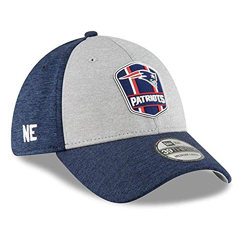 New Era New England Patriots on Field Sideline 18 Road 3930 39thirty Cap Curved Visor S M NFL