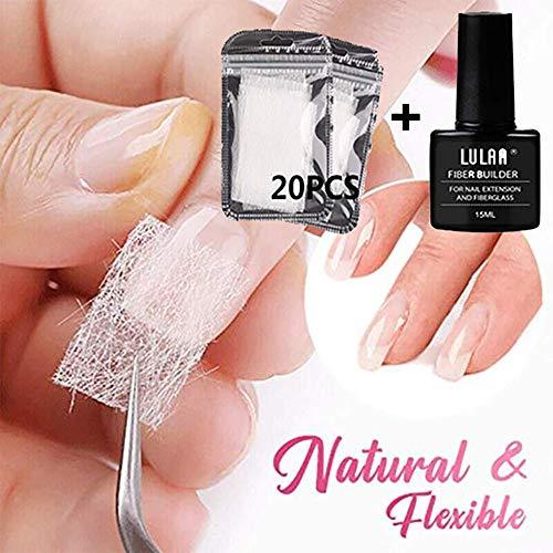 FILWO Fiberglas Nägel Glasfaser Nägel Set, Nägel Verlängerung Nagelpflege Fiberglas Acryl Spitzen Heim Salon Maniküre Werkzeug für Damen