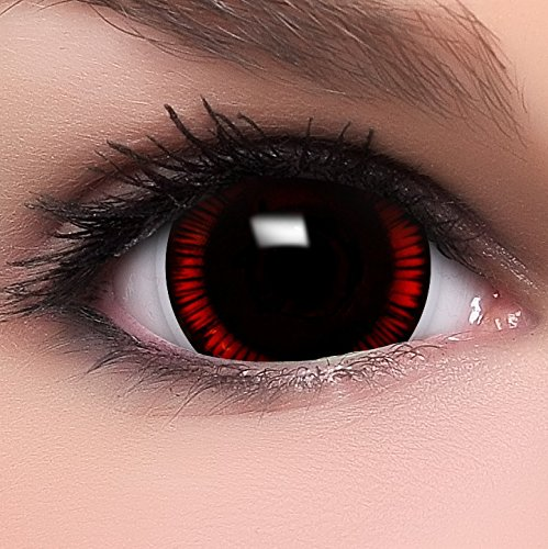 Farbige Mini Sclera Kontaktlinsen Lenses Flashback inkl. Behälter - Top Linsenfinder Markenqualität, 1Paar (2 Stück)