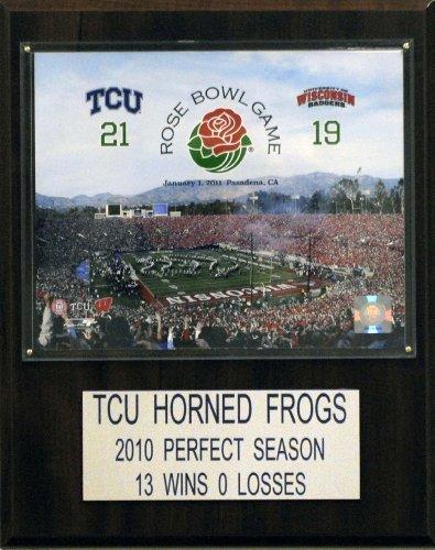 C & I Sammlerst-cke 1215AARB11 NCAA Football Texas Christian University 2011 Rose Bowl Champions Plaque