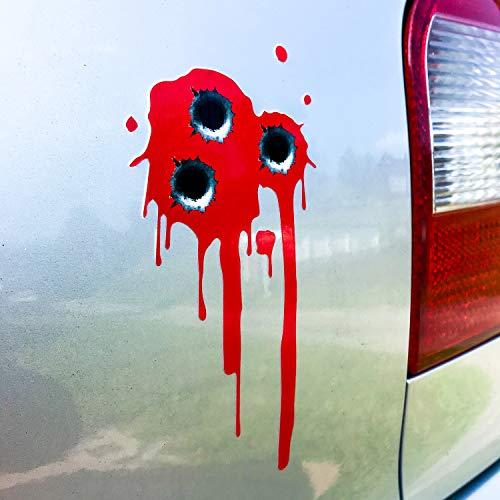 Blut Auto Aufkleber Einschusslöcher Sticker Tattoo Autoaufkleber Tuningsticker