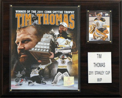 C & I Sammlerst-cke 1215TTHOMMVP NHL Tim Thomas Boston Bruins 2011 Conn Smythe MVP Plaque
