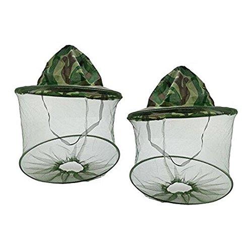 NiceButy Sonnenhut Fischerhut, Imkerhut, Camouflage, für den Außenbereich, Tarnmuster, Anti-Mücken, Anti-Insekten, Camping, Angeln, Hut mit Netz, Fliegenschutz