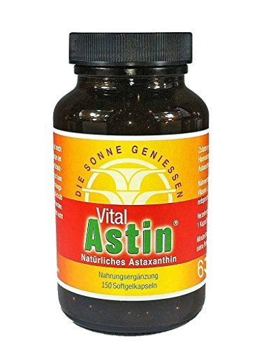 Astaxanthin - versandkostenfrei - VitalAstin 150 Kapseln - Das Original Ivarssons VitalAstin mit 4 mg natürlichem Astaxanthin