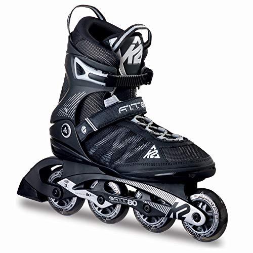 K2 Herren Inline Skates F.I.T. 80 - Schwarz-Grau - EU: 44 (US: 10.5 - UK: 9.5) - 30A0003.1.1.105