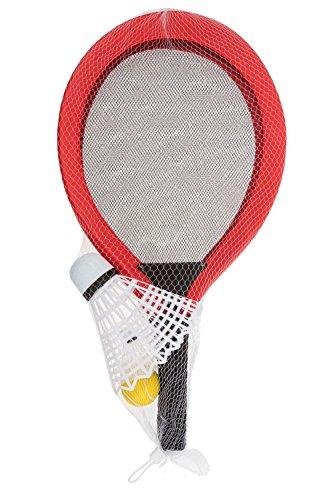 Idena 40003 Softballspiel mit XXL Federball und 2 weiteren Bällen, ca. 67 cm, sortiert, ideal im Sommer für Garten, Park oder Strand