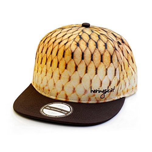 heringsküt Angel Cap I Basecap für Angler Snapback Anglerkappe Unisex I One Size 56 cm – 62 cm, Motiv Schuppenkarpfen