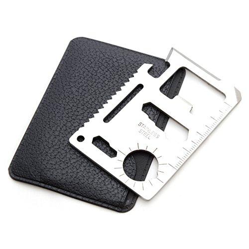 Ganzoo Multifunktionswerkzeug, multifunktionelles survial Tool in kompaktem Kreditkartenformat, Outdoor Tool mit Säge, Messer, Flaschenöffner UVM, Marke