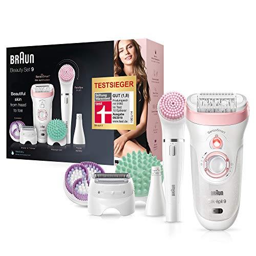 Braun Silk-épil Beauty-Set9 9-995 Deluxe 9-in-1 Kabellose Wet&Dry Haarentfernung– Epilierer, Rasierer, Peeling, Reinigungskit für Gesicht und Körper