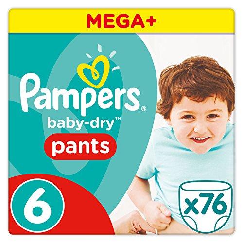 Pampers Baby Dry Pants Windeln, Gr.6 (ab 15kg), Mega Plus, 1er Pack (1 x 76 Stück)