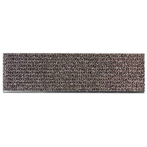 etm Stufenmatten außen | Treppen Rutschschutz mit Alu-Schiene | Antirutschmatten mit patentierter PVC-Granulat-Schicht | 2 Farben & Größen (braun, 24 x 80 cm)