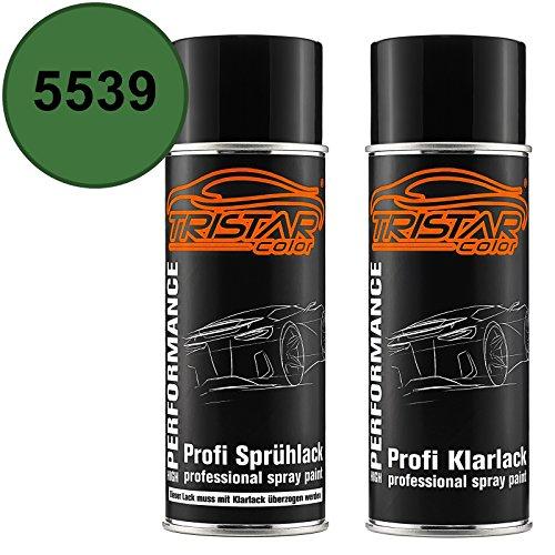 TRISTARcolor Autolack Spraydosen Set für Agricultural/Agrar 5539 Lanz/John Deere Groen Basislack Klarlack Sprühdose 400ml