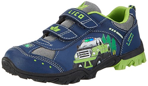 Lico Jungen MONSTERTRUCK V Blink Low-Top, Blau (Marine/Lemon), 32 EU