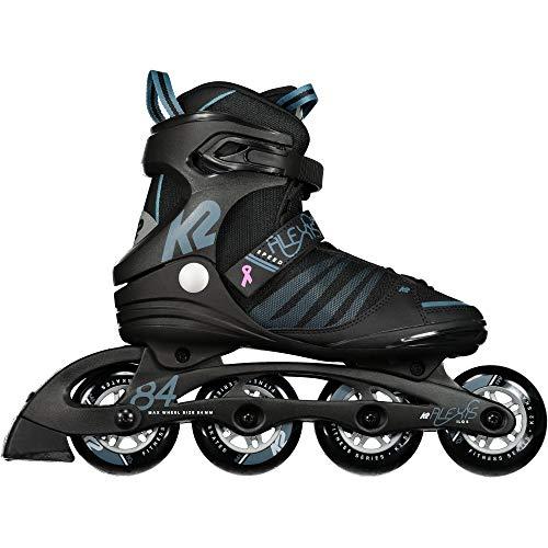 K2 Damen Alexis 84 Speed Alu Skateboardschuhe, Schwarz (Black/Steel Blue 001), 37 1/3 EU