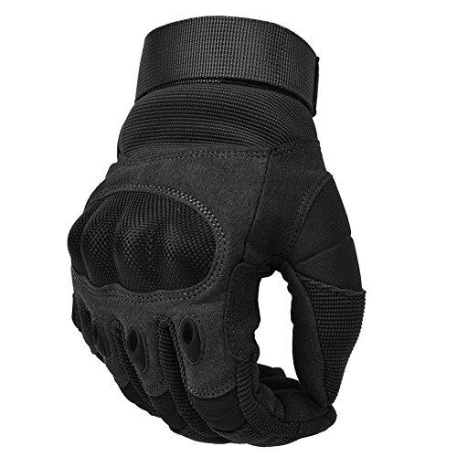 COTOP Unisex– Erwachsene Motorrad Handschuhe, schwarz, M