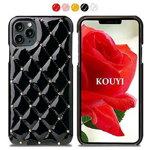 KOUYI iPhone 11 Pro Max, Leder Tasche Slim und Lightweight Backcover Handytasche Leder Hülle Case mit Soft Microfaser Tuch Futter Bumper für Apple iPhone 11 Pro Max (6,5 Zoll) (Schwarz)