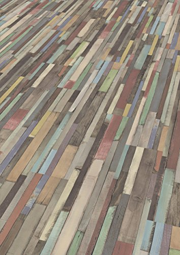EGGER Home Laminat mehrfarbig bunt Holzoptik - Dimas Wood bunt  EHL008 (7mm, 2,481 m²) Klick Laminatboden   Bodenbelag