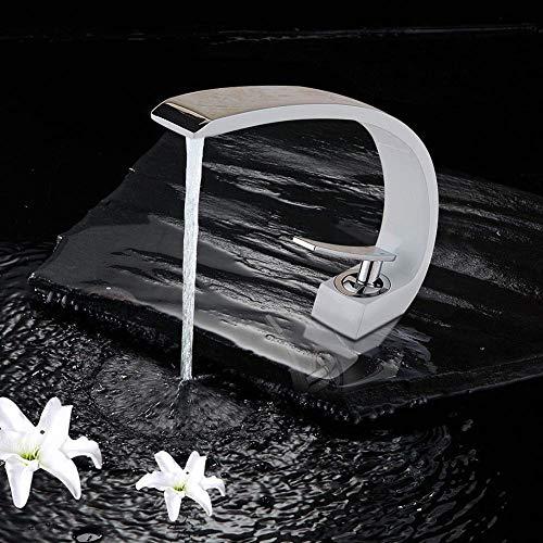 SUGU Badarmaturen Waschtisch Ausziehbar Waschbeckenarmatur Weiß Chrom Bad Amatur Waschbecken Schwarz Badezimmer Amaturen Waschbecken Einhebelmischer Waschtisch