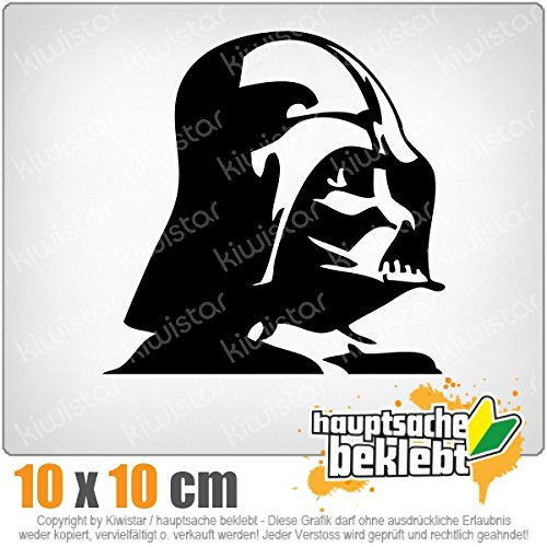 Darth Vader 11 x 11 cm IN 15 FARBEN - Neon + Chrom! Sticker Aufkleber