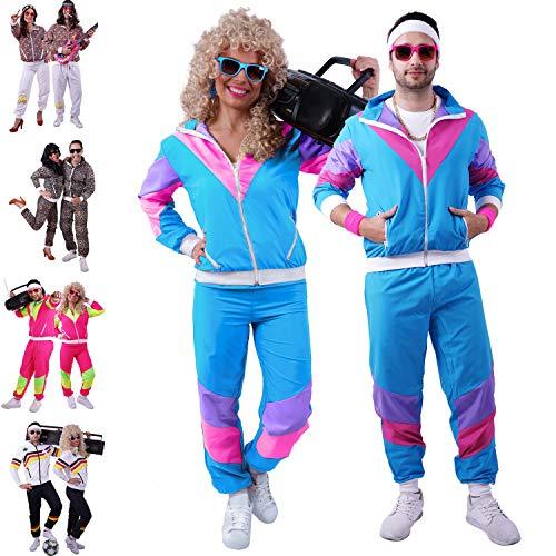 FetteParty – 90er Jahre Outfit / 80er Trainingsanzug Herren – Retro Trainingsanzug für Herren und Damen – Größen S - 4XL