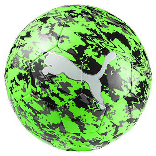 PUMA One Laser Ball Fußball, Green Gecko Black-Charcoal Gray, 5