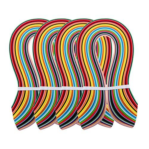 PandaHall Elite 36 Farben 1440 Streifen Papier Quilling Streifen Papierbreite Set, 525x3mm, 4 Stück