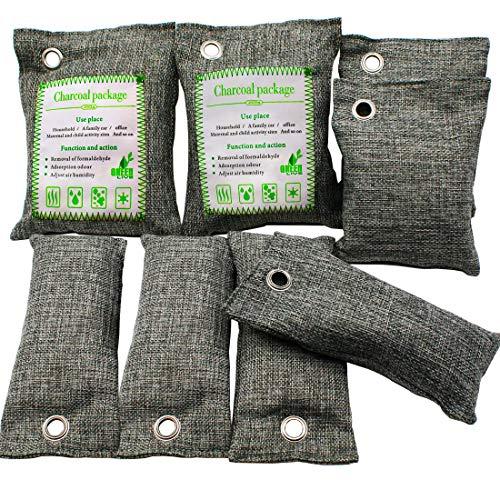 Bamboo charcoal,air freshener bag,dehumidifier car 500 g,natural air filter bag,natural air freshener bag,activated carbon odour iminators air freshener for car, bathroom, kitchen,pet wardrobe (8 pcs)