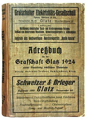 Adressbuch Grafschaft Glatz (Schlesien) 1924 für Ahnenforschung - eBook im PDF-Format auf CD